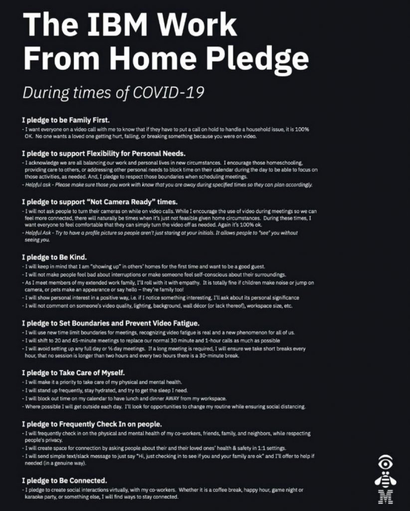 The IBM Work From Home Pledge