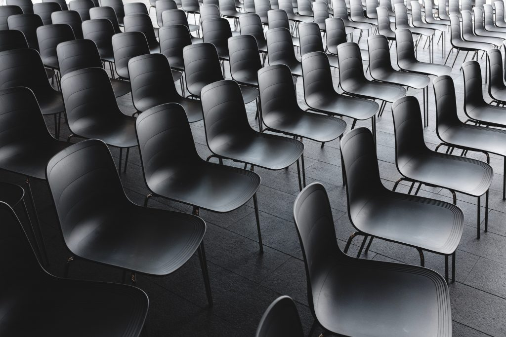 Empty chairs in a conference room